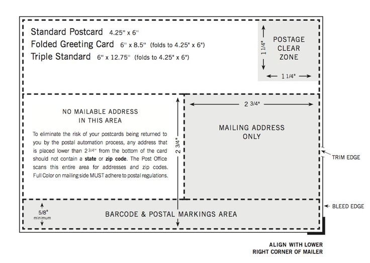 Usps Postcard Address Layout Card template
