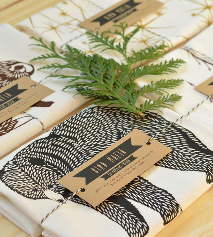 Flour Sack Tea Towels - Set of 4 | Home Kitchen & Pantry | Bird Mafia | Scoutmob Shoppe | Product Detail