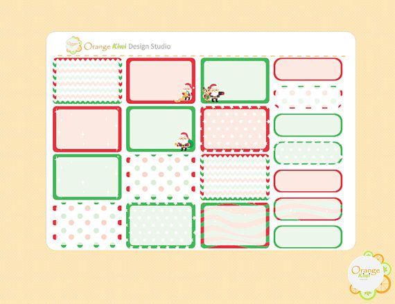 Christmas Half Box Stickers Christmas Weekly Kit Hal Boxes