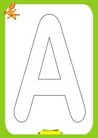 Planse de colorat cu litere Alphabet-Coloring-Pages-A