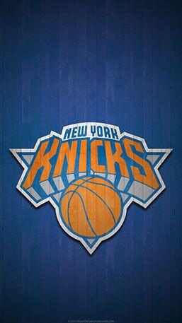 New York Knicks Mobile Hardwood Logo Wallpaper V1
