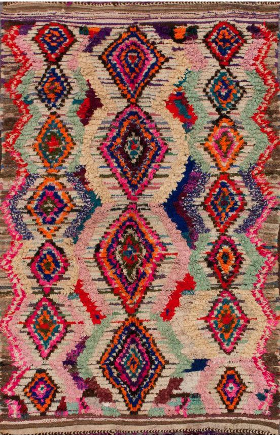 The colors in this rug are unreal. Moroccan Azilal Berber Rug…