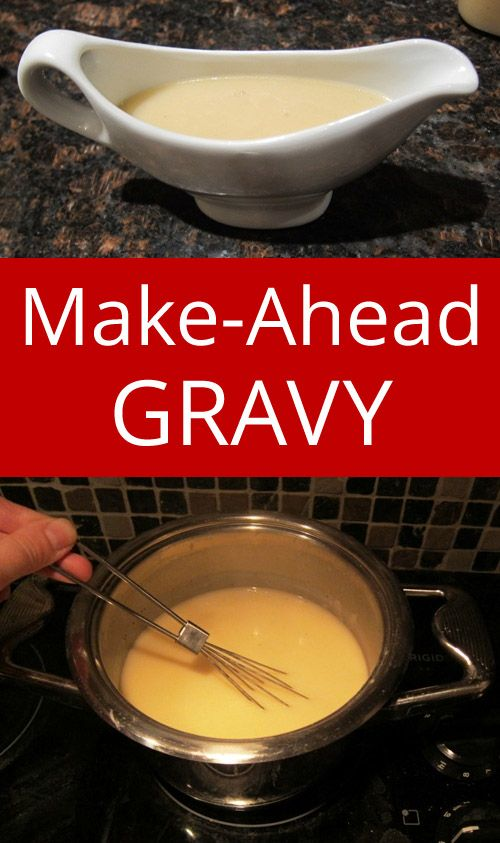 Easy Make Ahead Gravy - makes holidays so much easier! This is the only gravy recipe I'll ever need! | MelanieCooks.com