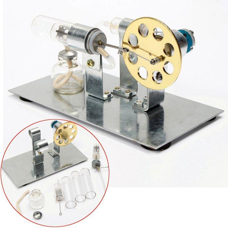 Lucu diy mini air stirling mesin motor model pembelajaran pendidikan tenaga uap mainan listrik model mainan untuk anak dewasa