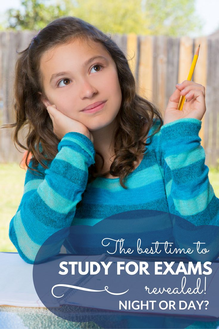 What is the best time to study for exams? Time to find out!