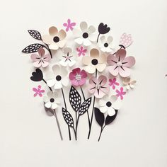 Paper Crafts = Hanna Nyman Paper poetry by Stockholm based designer and print designer Hanna Nyman. WebShop on website. Paper Flower Art, Giant Paper Flowers, Paper Roses, Flower Crafts, Diy Flowers, Fabric Flowers, Crafts To Make And Sell, Diy Arts And Crafts, Diy Crafts