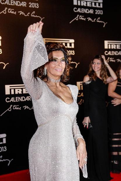 Sophia Loren shows she's still got at as she attends the 2013 Pirelli Calendar Unveiling in Rio de Janeiro, Brazil.