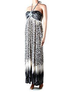 Dlhé letné čiernobiele šaty Fashion Design II  Dlhé ľahké padavé letné šaty s vystuženými košíkmi na prsiach a háčkovanou ozdobou vpredu so šnúrkou okolo krku. Na chrbáte sú šaty pružné s gumičkami. Farba šiat plynule prechádza z čiernej cez bielu opäť do čiernej. Látka má vzor leopardej kože.  http://www.yolo.sk/saty/dlhe-letne-ciernobiele-saty-fashion-design-2