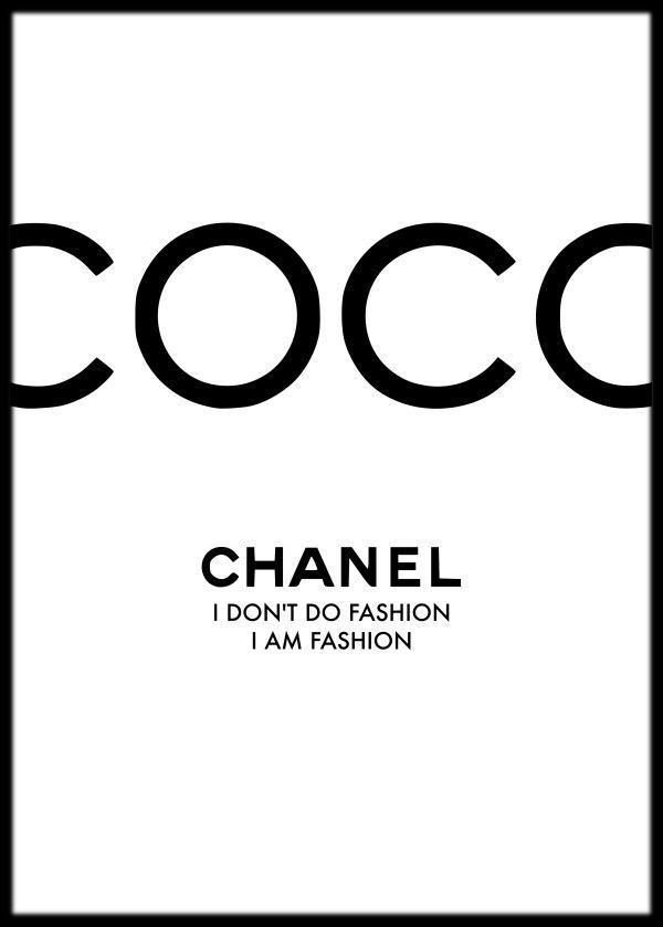 """Coco Chanel Zitat Kunstdruck, Coco Chanel Poster, Chanel Wandkunst, Chanel Print, """"Ich mache keine Mode"""", gerahmter Druck, Mode Wandkunst – #Chanel #C…"""