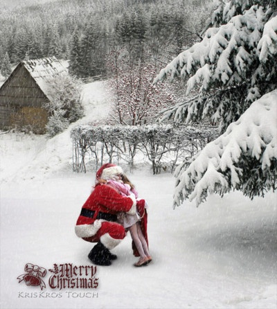 a Santa hug.