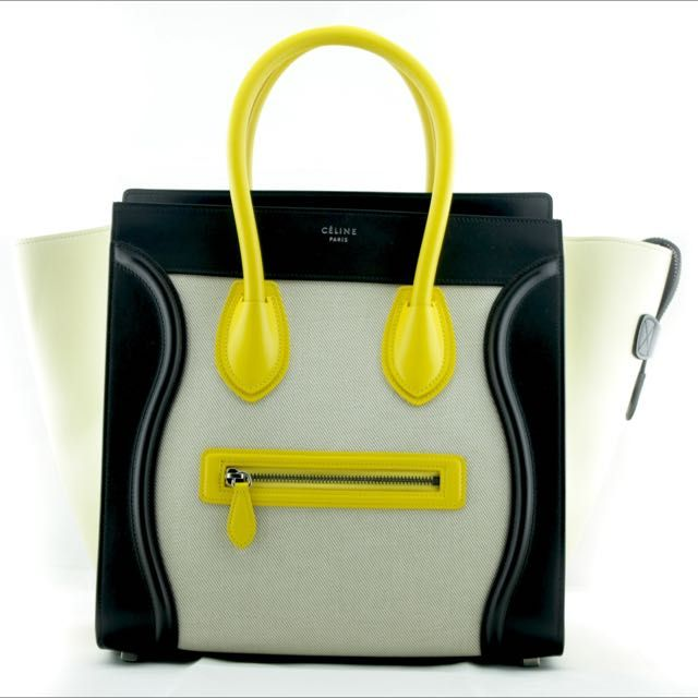 Celine Tricolor Micro Luggage Tote on Carousell