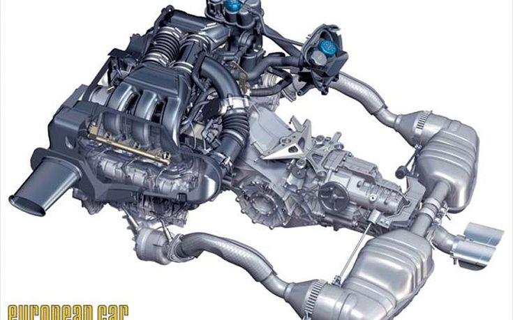 2006 Porsche Cayman S Engine View
