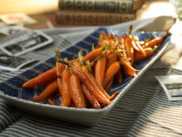 Honey-Roasted Carrots with Sesame Seeds from CookingChannelTV.com