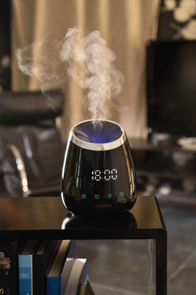 Esteban Paris home perfumes. Perfume mist diffuser - black timer edition.