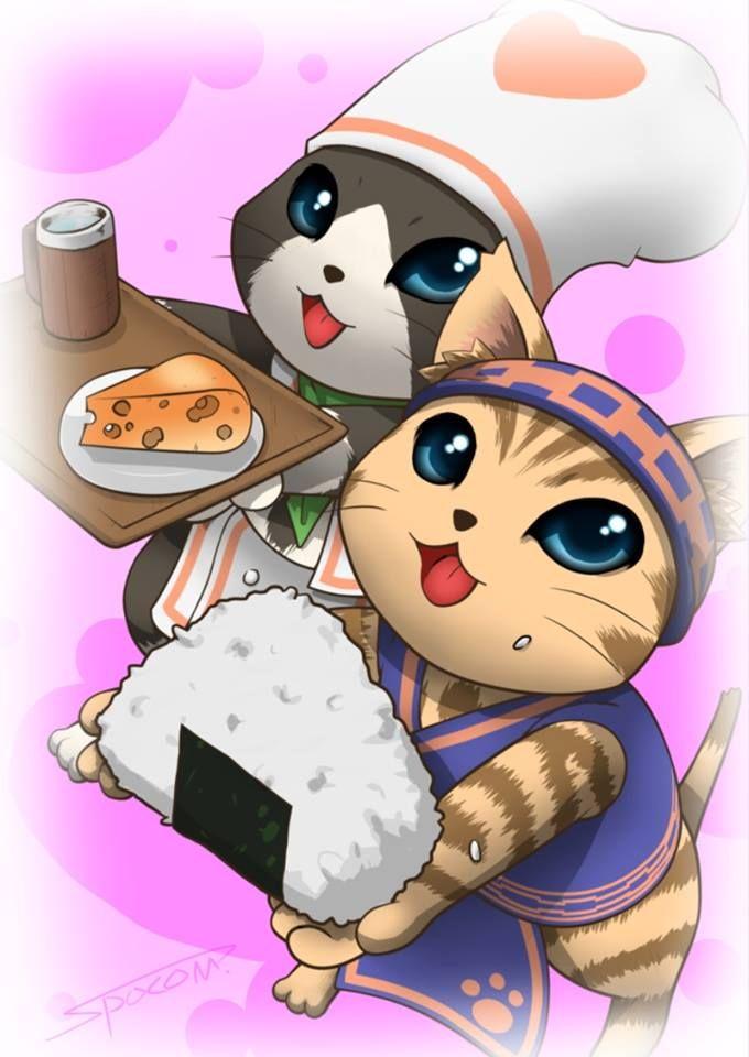 monster hunter- that chef kitties!