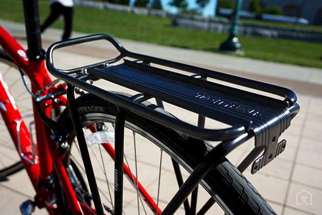 The Best Rear Bike Rack | The Topeak Explorer is easy to install and feels the most stable under load. It has a sturdier taillight mount than other racks.