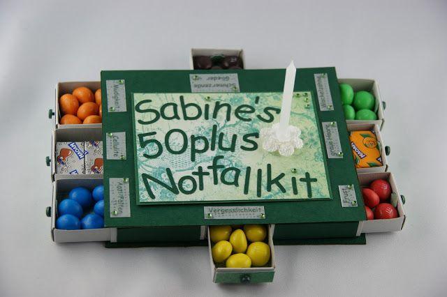 50plus Notfallkit emergency Smarties Geschenk Alter Geburtstag