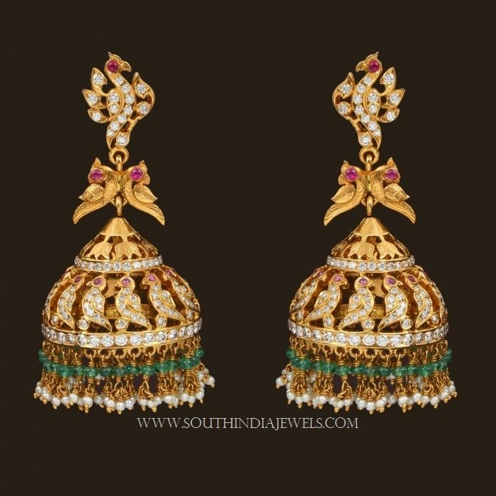 Latest gold jhumka designs with weight and price, 22 Carat Gold Jhumka Designs with Weight and Price Details.