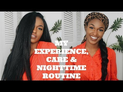 My Crochet Experience, Care and Nighttime Routine   Outre X-pression Dominican Straight Blowout - YouTube