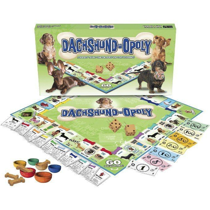 DACHSHUND-OPOLY PROUD, CLEVER, AFFECTIONATE, AMUSING… MEET THE DACHSHUND! The Dachshund is a lively breed with a friendly personality and a keen sense of smell. Known for their long and low bodies, th