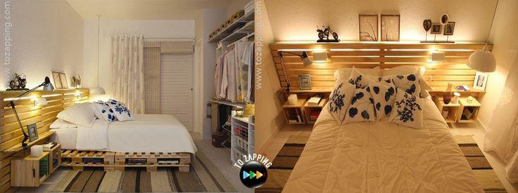 Cómo hacer cama con palets. Hoy presentamos otra forma útil de hacer una cama con cabecero con palets de estilo japonés o tatami, que son camas con poca