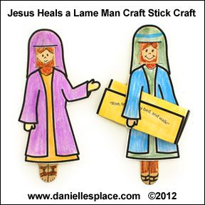 Jesus Heals The Lame Man Craft Stick Bible Craft For