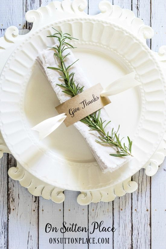 Thanksgiving Napkin Rings On Sutton Place Fall Inspiration