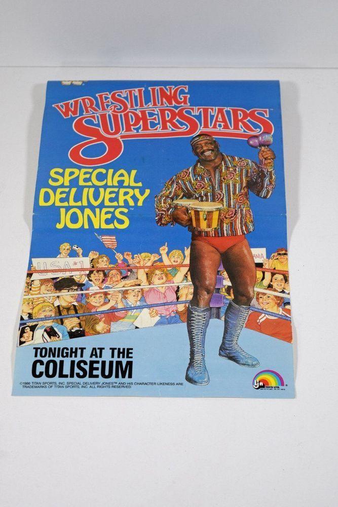 1986 Titan Sports LJN WWF Wrestling Superstars Special Delivery Jones Poster #LJN