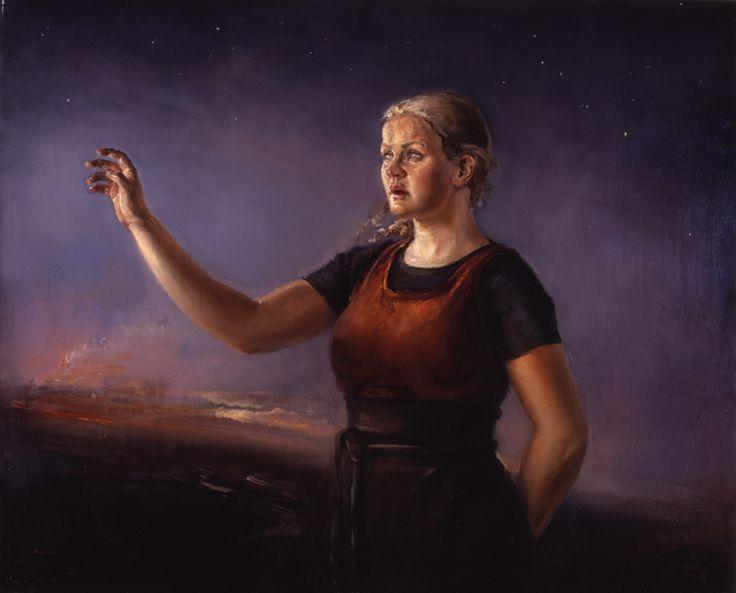 Northern Star, Oil on canvas by Jonny Andvik