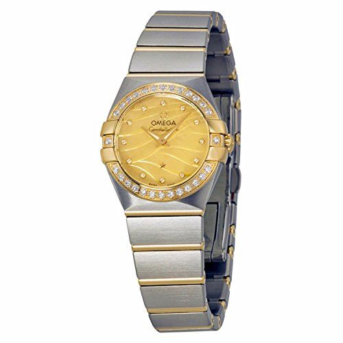 Omega Constellation Champagne Mother of Pearl Dial Steel and Yellow Gold Diamond...