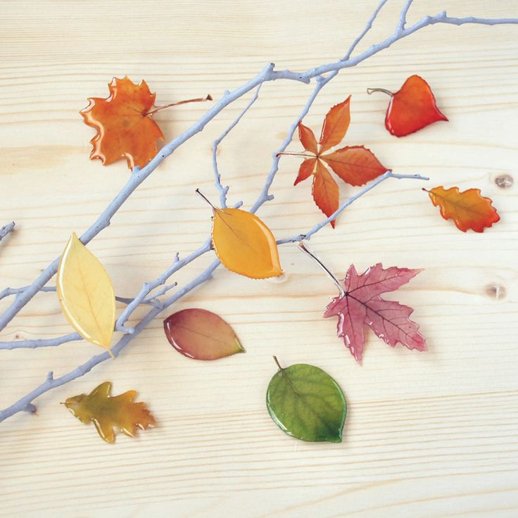 autumn leaves brooches oneflowerstory resin jewelry