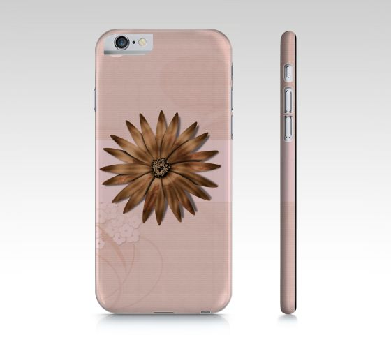 """iPhone+6+/+6S+""""Metallic+flower+on+Pink""""+by+Lena+Photo+Art"""