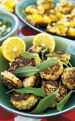 Kycklingbollar med citron och salvia