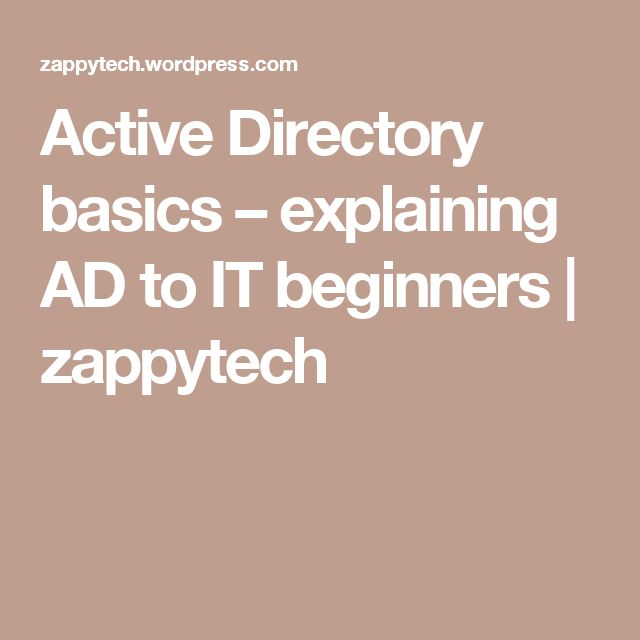 Active Directory basics – explaining AD to IT beginners | zappytech