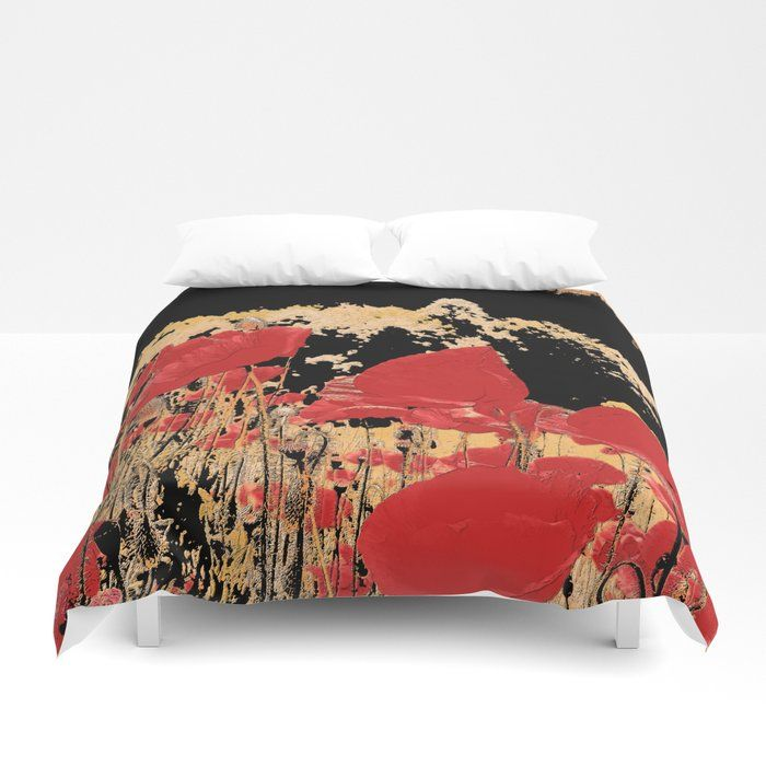 Buy Red Poppy Field In The Mountain Altered Nature Photo Adorable Poppies Flower Image Botanic Print Duvet Cover By K Red Poppies Flower Images Poppy Field