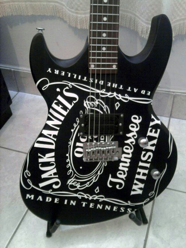 Jack Daniels and guitars! Two of my favorite things.