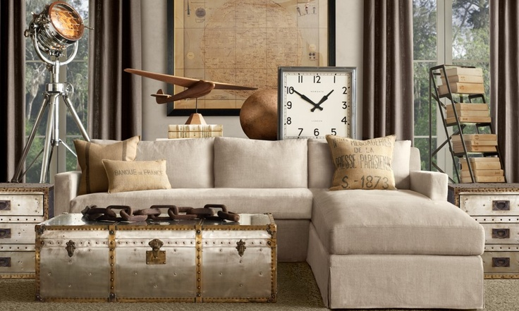 Loving Restoration Hardware's tribute to aviation in the fall collection!