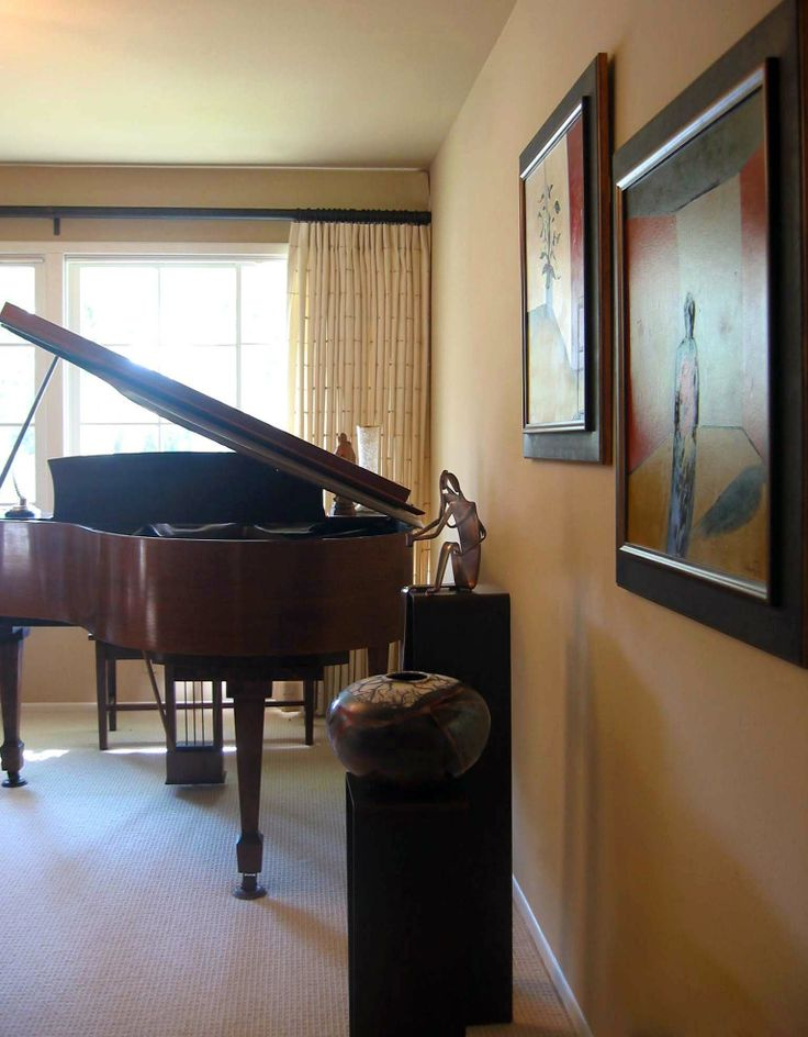 Music room for playing the piano and enjoying beautiful for Interior designs by vickie