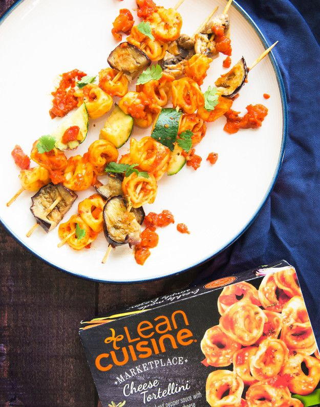 Try out this Lean Cuisine food hack for our Cheese Tortellini recipe. Place the cooked tortellini pieces on a skewer along with chunks of grilled zucchini, aubergine, and mushroom for nutritious, vegetarian kebabs.