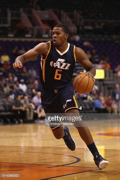 new orleans jazz basketball | Joe Johnson of the Utah Jazz handles the ball during the preseason NBA ...
