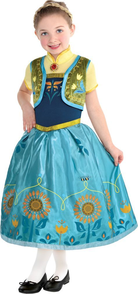 toddler girls anna costume supreme frozen fever party city - Halloween Anna Costume
