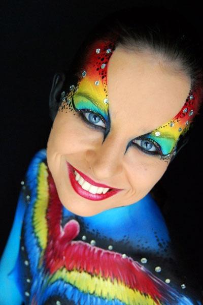 Jasmin Walsh Face & Body Art carnaval regenboog