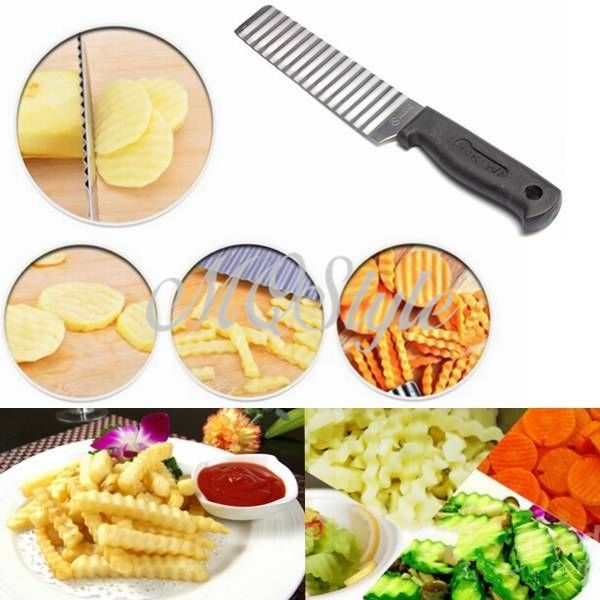 >> Click to Buy << 2017 Limited Special Offer Metal Kitchen Knife Facas Cooking Tools Potato Chip French Fries Wavy Cutter Slicer Vegetable K4063 #Affiliate