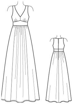 Maxi dress pattern - cute, if i just could work a sewing machine better :o
