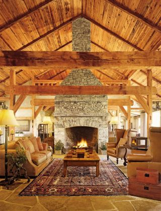 Rustic Living Room in Fredericksburg, Texas