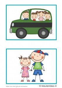 Dagritmekaarten voor kleuters 9, kleuteridee.nl , excursie en Sova , daily schedule cards for preschool 9, free printable.