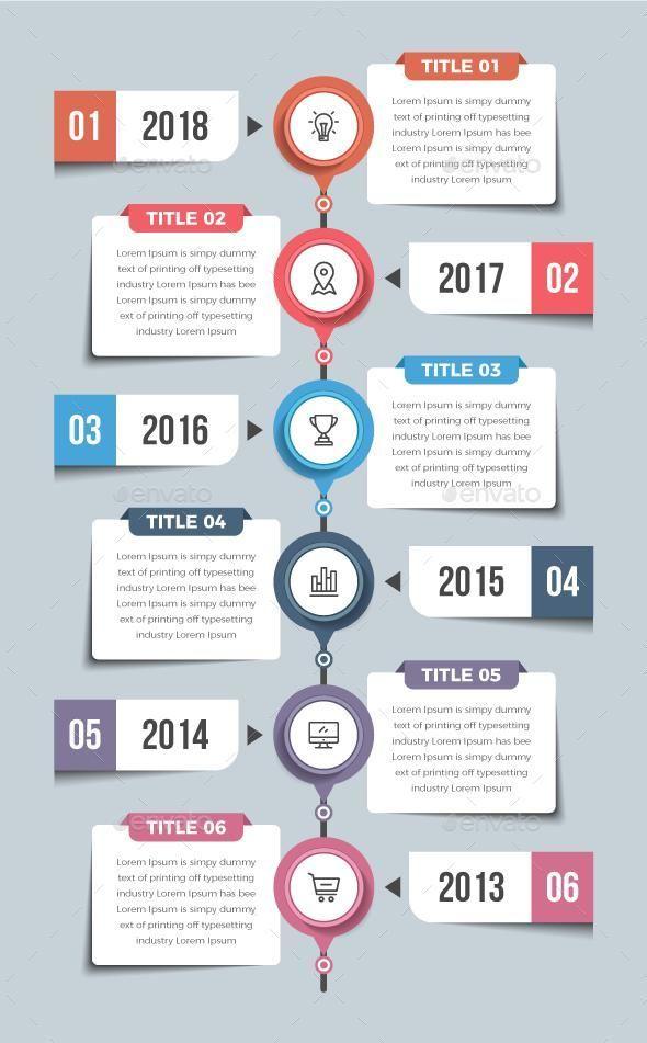 Modern Timeline Infographics Graphic Design Infographic