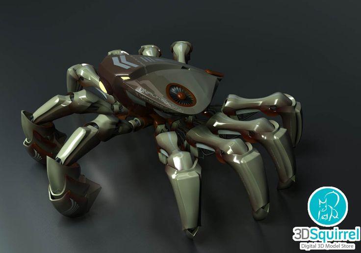 Crabby 3D Model fbx obj ma | 3DSquirrel