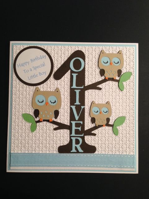 1st birthday owl card create a critter cricut cart