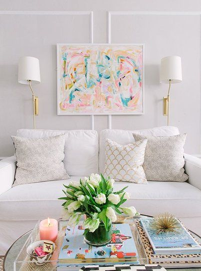 TASK (ACCENT) - (Beautiful yet subtle wall sconces that will provide great task lighting--and accentuate that artwork.)
